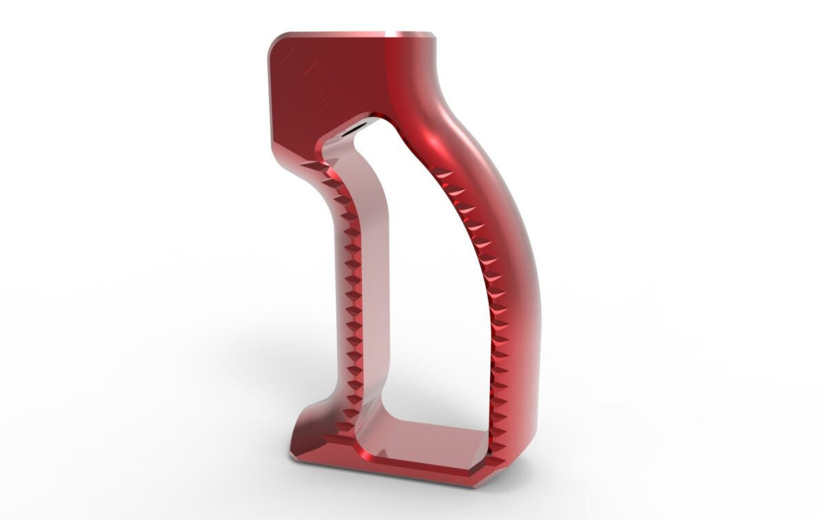 Vertical Pistol Grip - Red