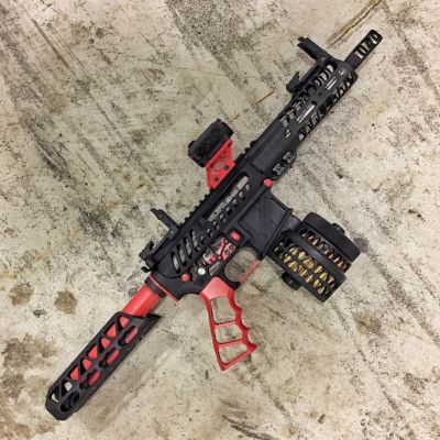 Red Anodized Ar15 Cheek Rest Tactical Dynamics Llc